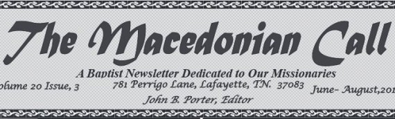 The Macedonian Call: August to December 2015